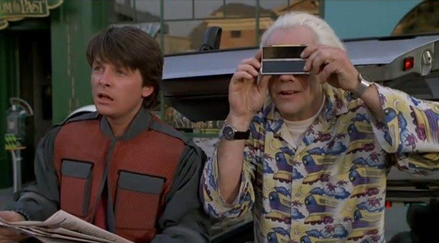 While digital cameras like the one seen in Back to the Future remain unpopular, snapping a few quick pics with your cell phone will help document the accident | Universal Pictures