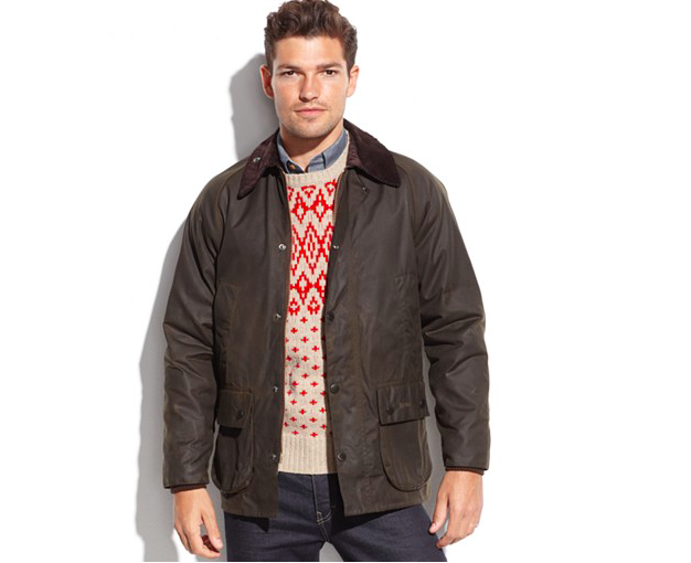 Barbour Bedale waxed jacket at Macy's