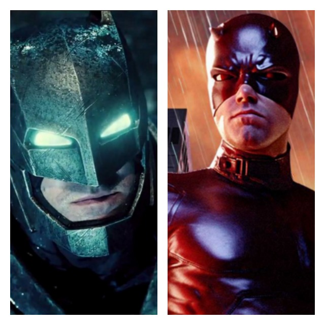 This is a side by side of Ben Affleck as Batman and Daredevil.