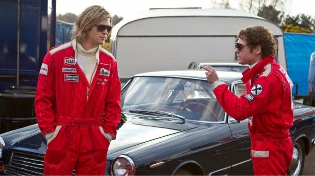 Chris Hemsworth and Daniel Bruhl in 'Rush'