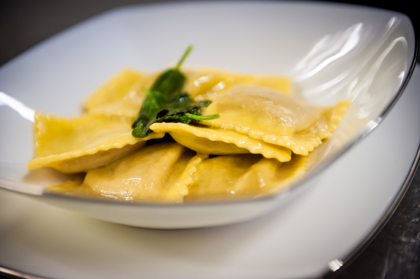 ravioli with sage brown butter