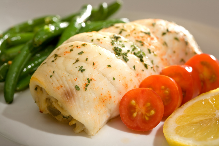 Creamy spinach stuffed flounder fishing recipes yak for Crab stuffed fish