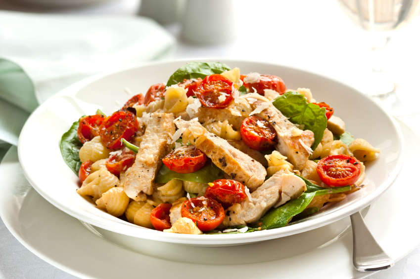 pasta with tomatoes and chicken