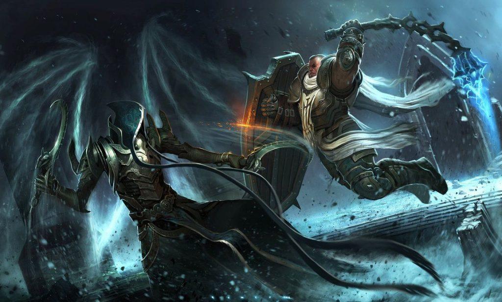A cutscene from Diablo: Reaper of Souls
