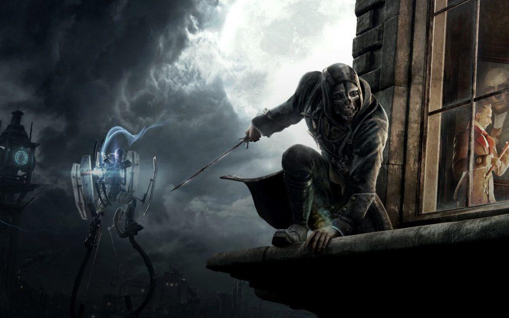 Corvo prepares for a kill in Dishonored
