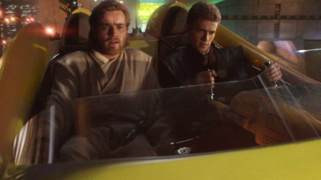 Ewan McGregor and Hayden Christensen in 'Star Wars: Attack of the Clones'