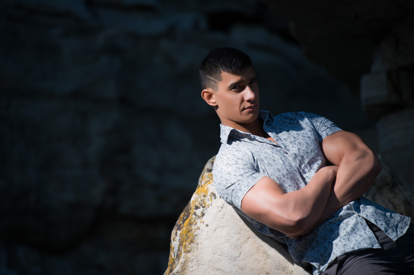 muscular looking man