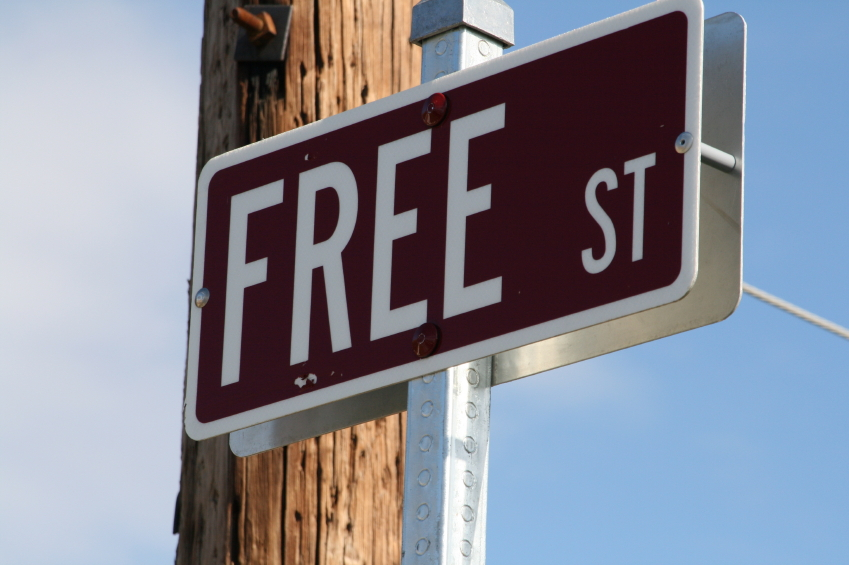 sign for free street