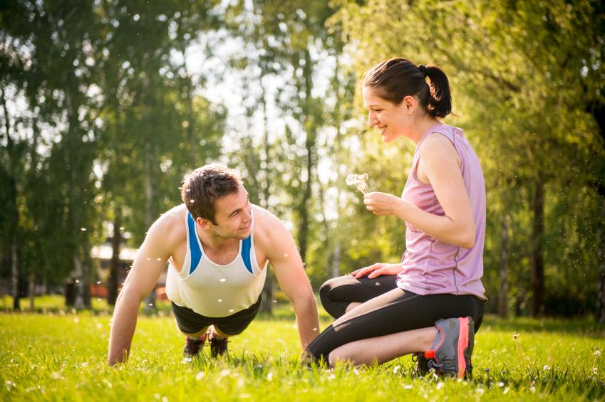 friends, exercise, push-ups