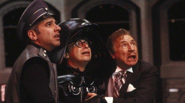 George Wyner, Rick Moranis and Mel Brooks in Spaceballs