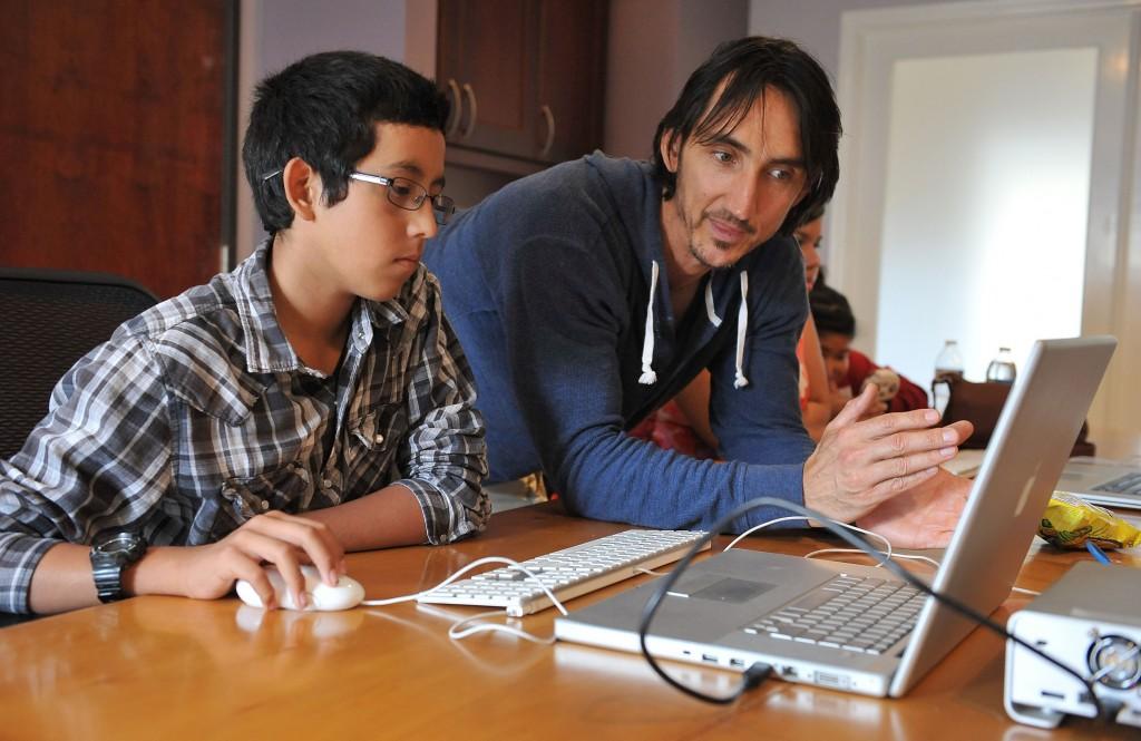 A teacher and student