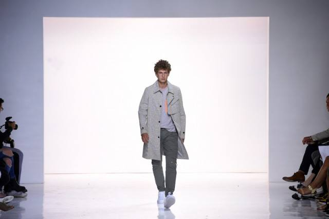 Man on the runway at a fashion show