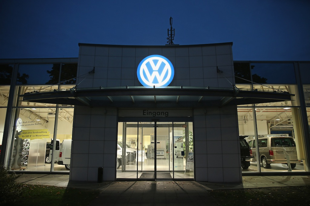 A German Volkswagen dealership