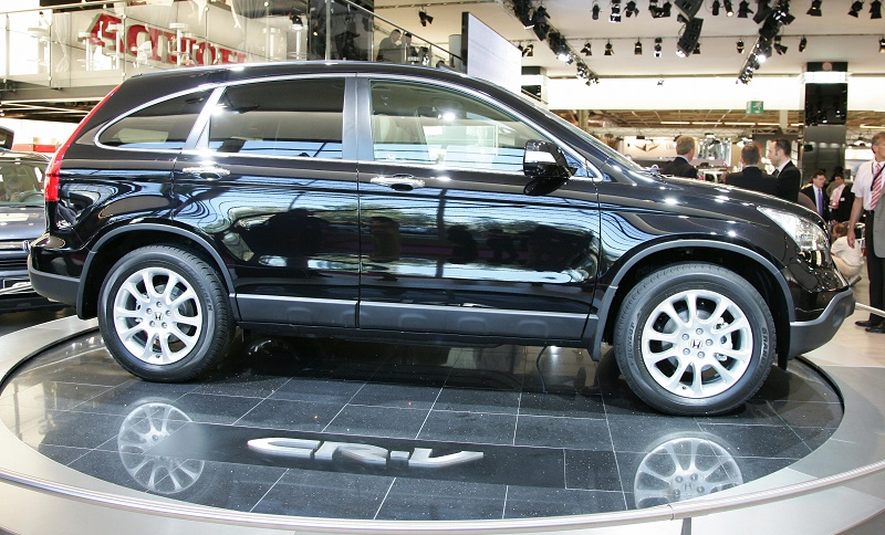 A Honda CRV is presented during the pr
