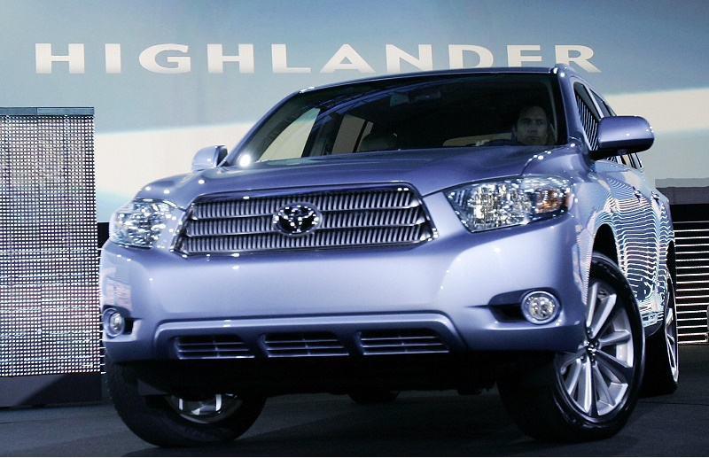 The new 2008 Toyota Highlander is shown