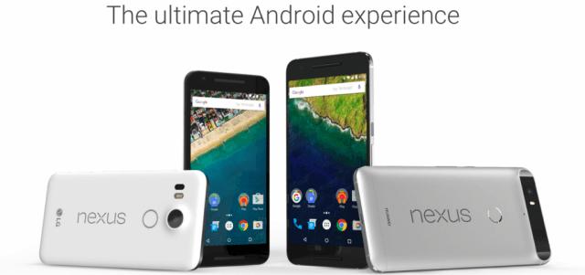 Google Nexus 5X and Nexus 6P
