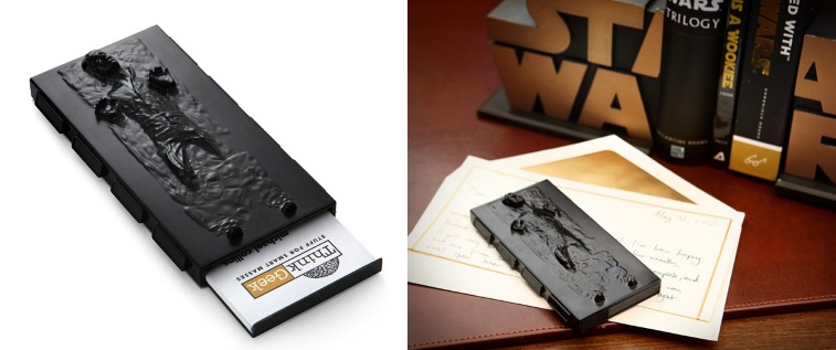 7 pieces of star wars gear you can use at the office han solo in carbonite business card case source thinkgeek colourmoves