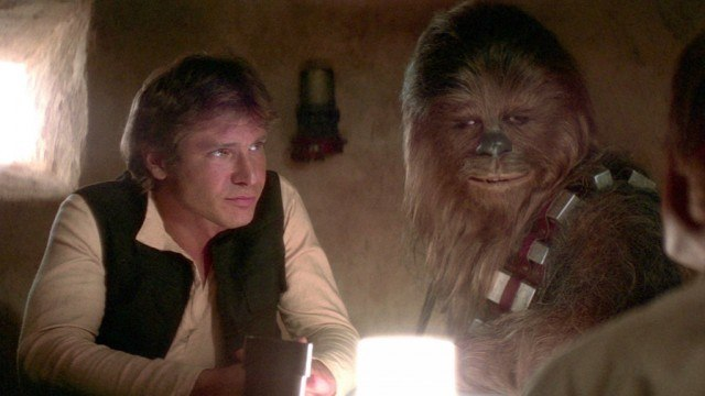Han and Chewie in Star Wars: A New Hope