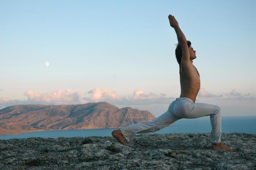 warrior I yoga pose