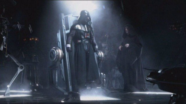 Hayden Christensen and Ian McDiarmid in 'Star Wars: Revenge of the Sith'