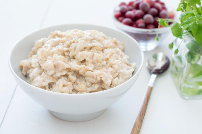 a breakfast of oatmeal