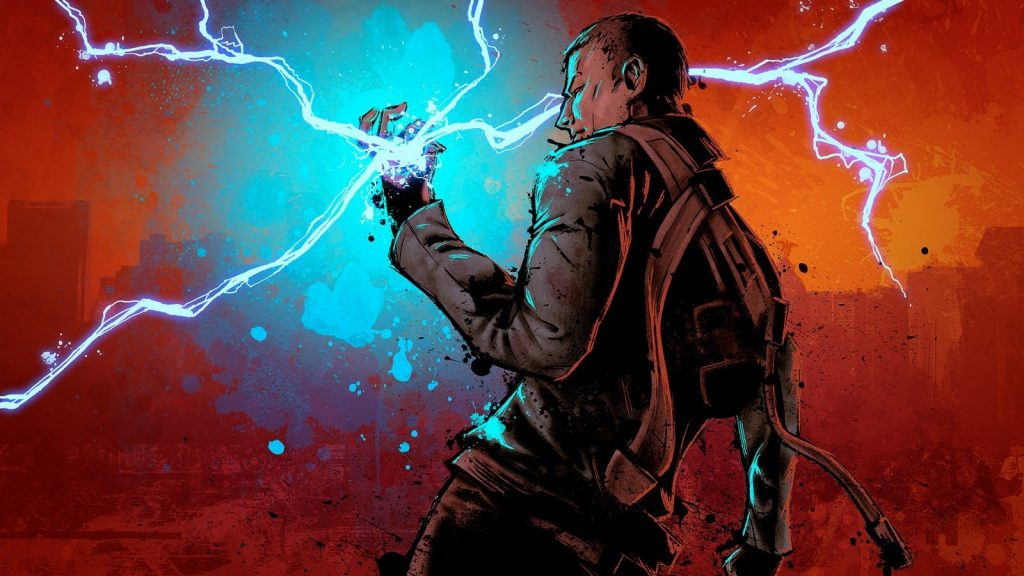 A cutscene from Infamous