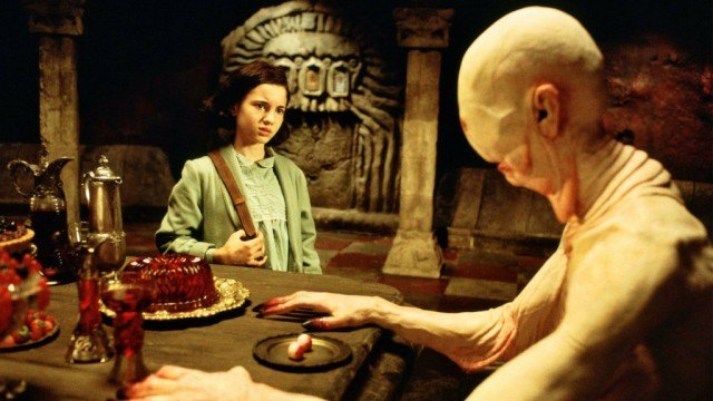 Ivana Baquero and Doug Jones in 'Pan's Labyrinth'