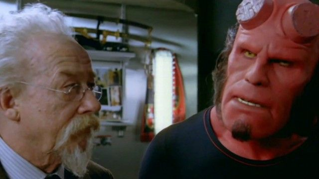 John Hurt and Ron Perlman in a scene from Hellboy