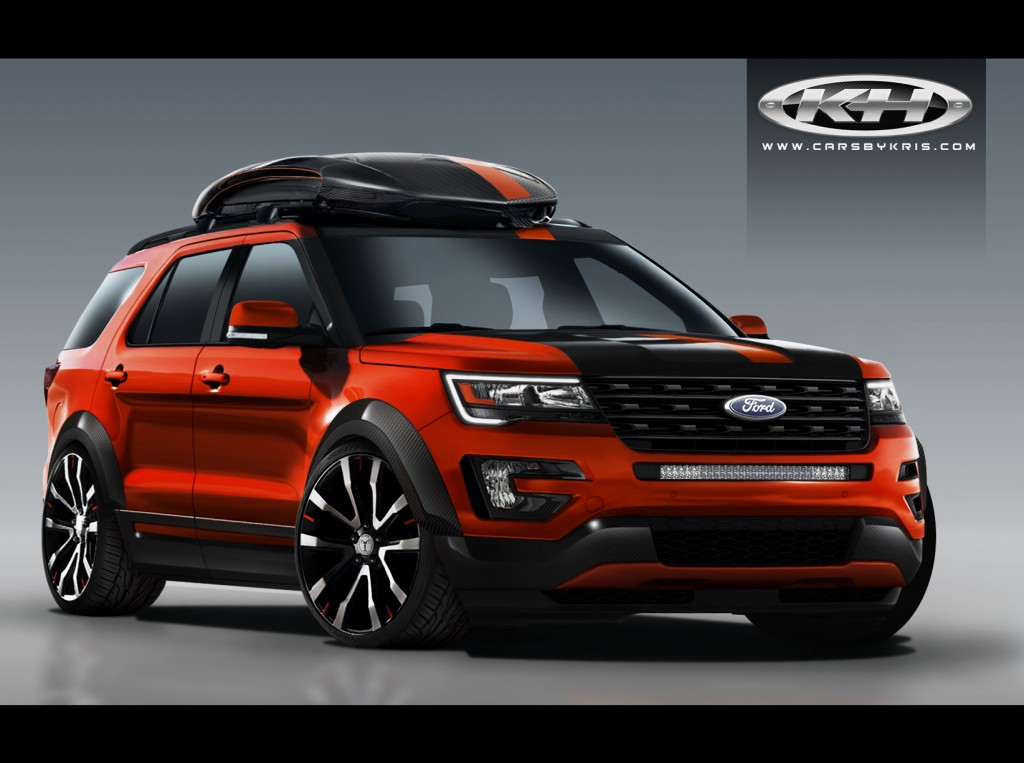Custom Ford Explorer >> Ford Gets 4 Custom Explorers Ready For Sema
