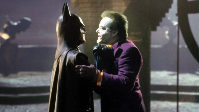 Michael Keaton and Jack Nicholson in Batman