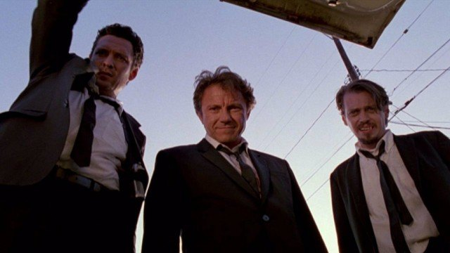 Michael Madsen, Harvey Keitel and Steve Buscemi in 'Reservoir Dogs'