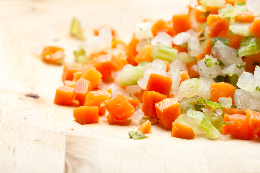 mirepoix, carrot, onion, celery