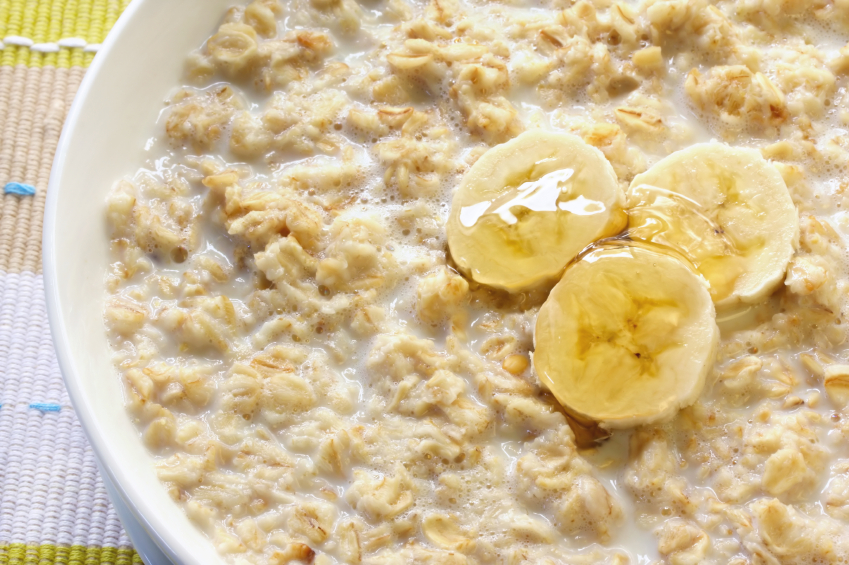 oatmeal, banana, honey