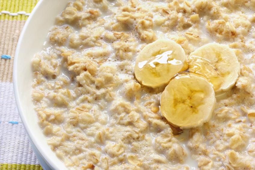 bananas with oatmeal