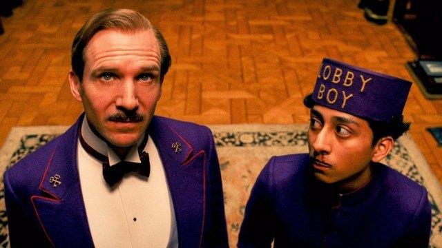 Ralph Fiennes and Tony Revolori in The Grand Budapest Hotel