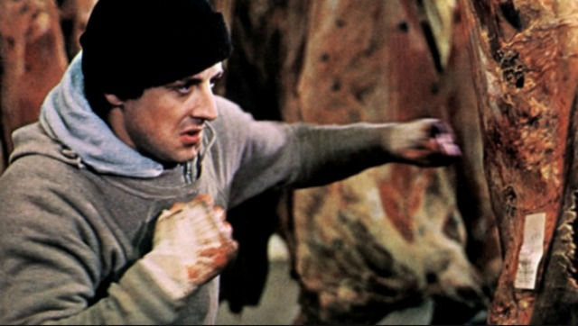 Rambo punches meat in 'Rocky'
