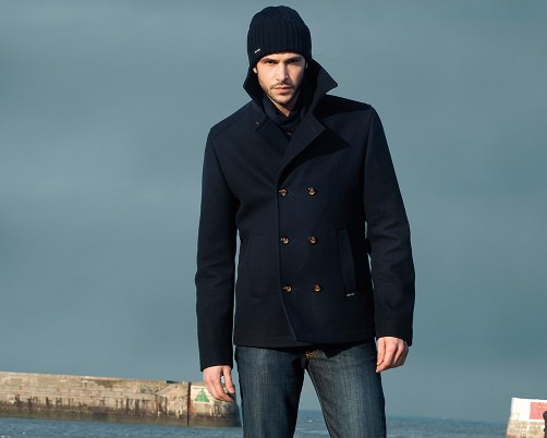 Saint James navy blue peacoat