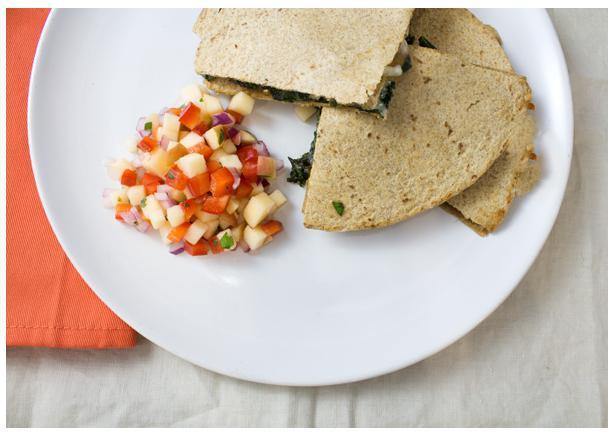 Sausage and Kale Quesadillas