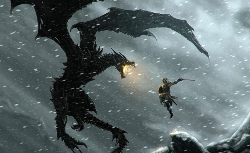 The Dragonborn goes to battle in Skyrim