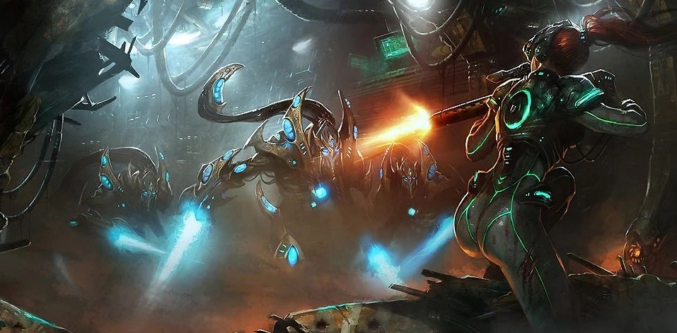 Artwork from Starcraft: Wings of Liberty