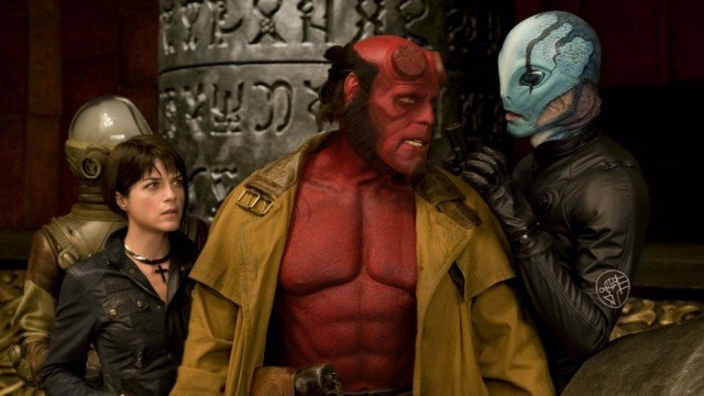Selma Blair, Ron Perlman and Doug Jones in 'Hellboy II: The Golden Army'