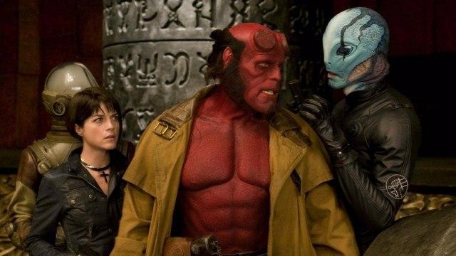 Selma Blair, Ron Perlman and Doug Jones in 'Hellboy II: The Golden Army'