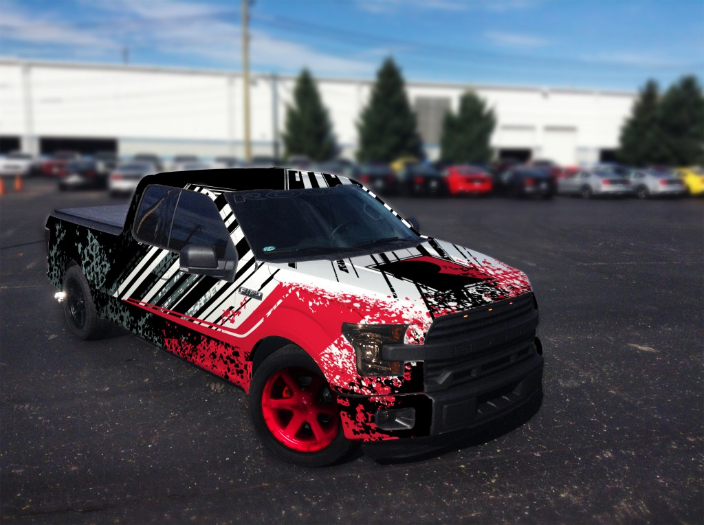 Sema 2015 F-150_blurred background