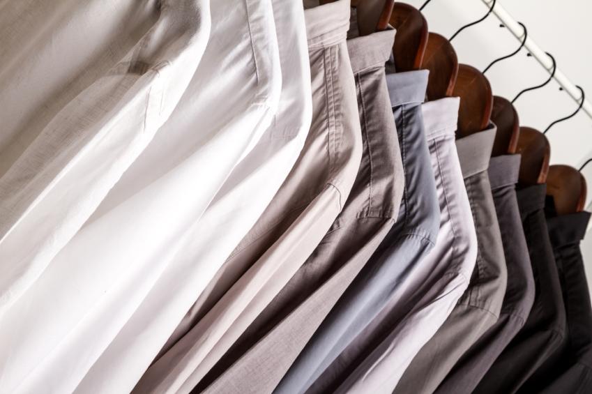shirts on hangars