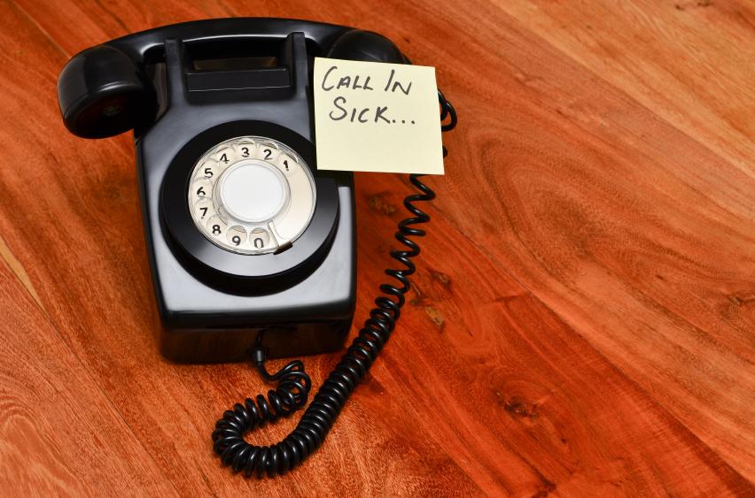 call in sick