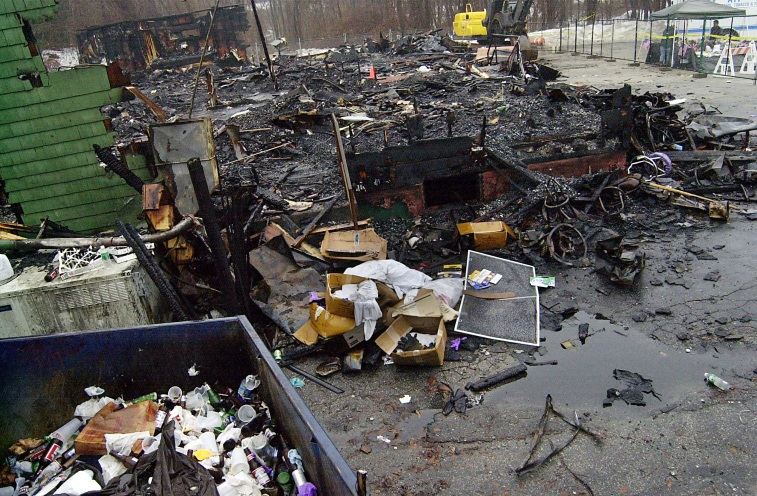 This is the burned rubble of the Station Nightclub.