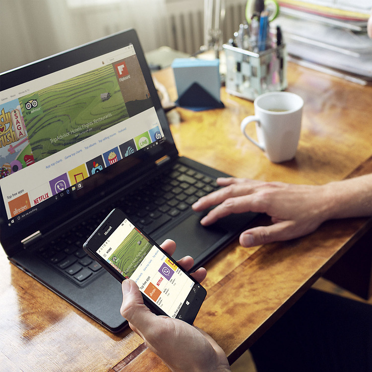 Windows 10 Windows Store on PC and smartphone