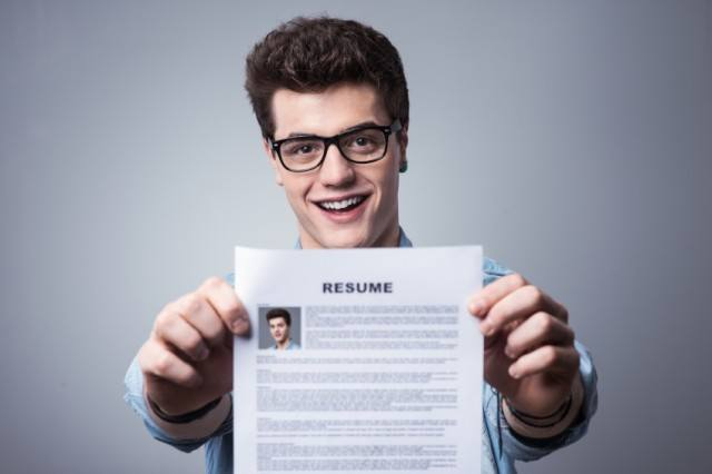 man with resume