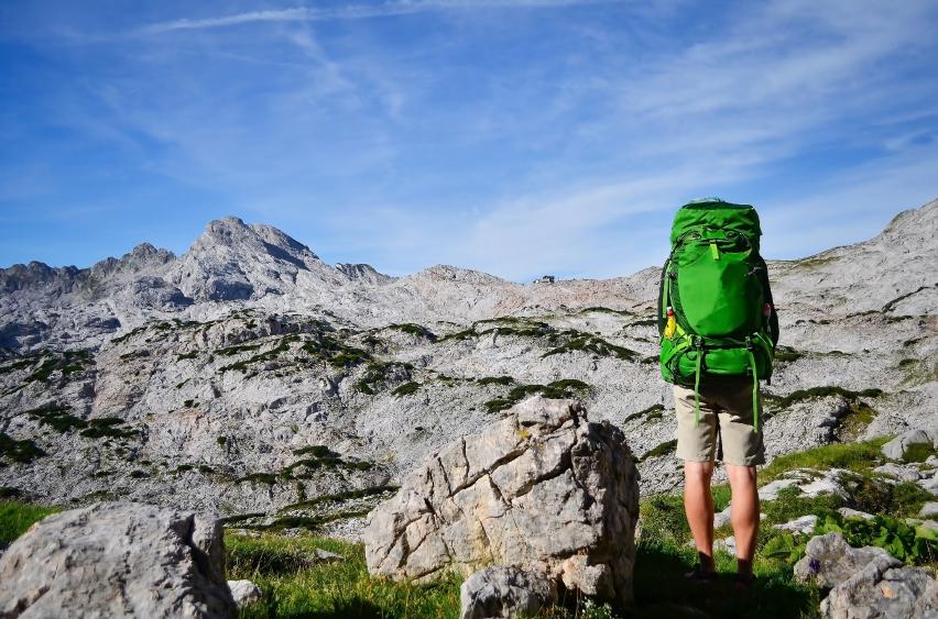 hiking mountains