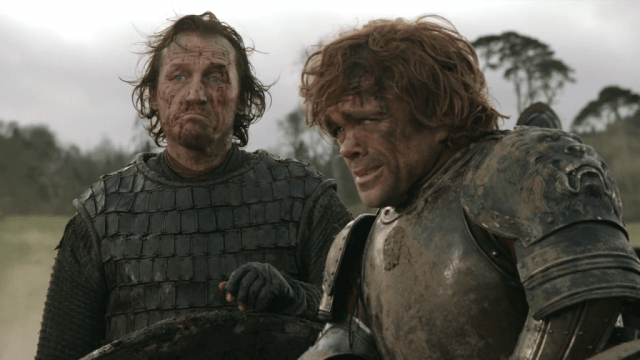 Bronn (Jerome Flynn) and Tyrion (Peter Dinklage) in 'Game of Thrones'